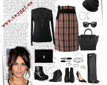OFFER  !!!!  Red, Black and Beig Tartan Skirt. Luci Lü .DISCOUNTS !!!!!Before 120E  Now 90E