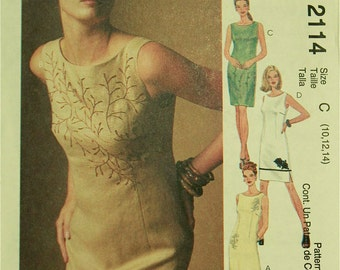 Dress, Embellishment Options- 1990's - McCall's Pattern 2114 Uncut  Sizes 10-12-14  Bust 32.5-34-36""