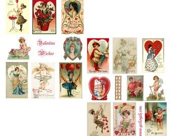 Valentine Wishes Digital Collage Set