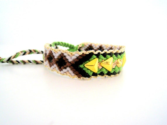 items similar to aztec friendship bracelet arrow gold