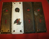 Door Nob Plates Vintage Restoration Original Patina Back Plates Switch Plates