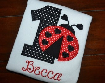 Personalized Ladybug Birthday Shirt