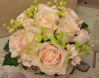 Artificial Vintage Teacup Flower Arrangement
