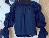 Black Pirate Renaisssance Chemise Shirt