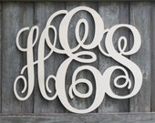Wood Monogram Letters All sales support our sports activities and summer camps.