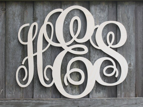 monogram wooden letters items similar to wood monogram letters all sales support 23687