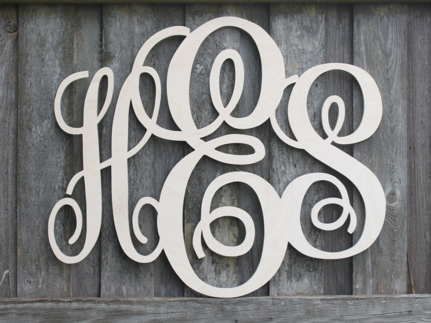 Wooden Monogram Letters All sales support our by KidBizLetters