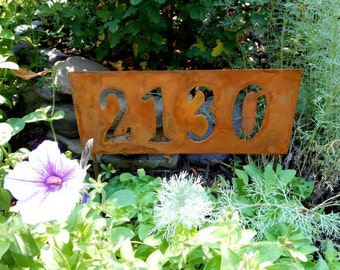 Address Sign, House Numbers, Address Plaque, Metal House Numbers