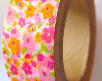 "Washi Tape Floral  ""Frolic""   (10 Meters)"