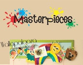 Children's Art Display Decal - Art Gallery decal - Masterpiece wall decal - Child artist decal - Masterpieces