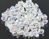 115pcs* 4mm Crystal AB Bicones Like CRYSTAL Ab Swarovski Crystals A Grade Diy Jewelry Beads Beading Supplies Free Combined Shipping