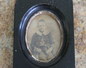 Cottage Chic Framed Photo of Young Victorian Boy