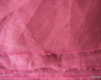 Extra Wide Burgundy Color Pure Linen Fabric by Yard
