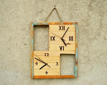 handmade wood clocks