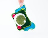 Plush Key Chain - Plushie  - Green/Hunter