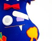 Plushie Felt Zombie Monster - XLarge Plush Toy - Blue