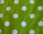 Sale!!!! Green and White Polka Dot Fabric!! Ready to Ship