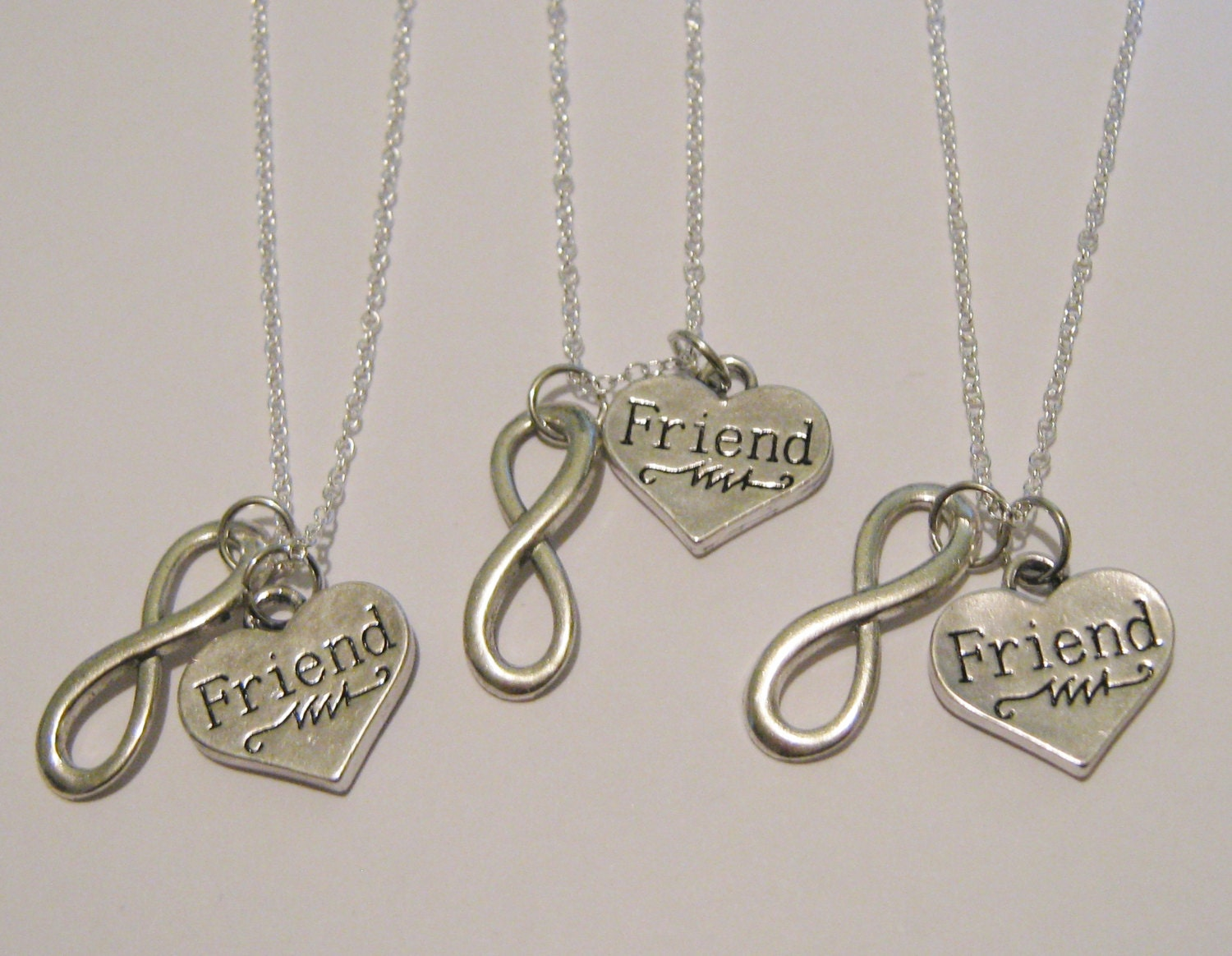 3 infinity best friend necklaces bff by charmintreasurechest