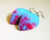 Coral Reef - Handmade Watercolor Paper Earrings