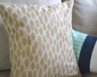 block print pillow, hand printed pillow cover, leopard