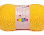 yellow acrylic yarn ,baby yarn ,Turkish high quality yarn , soft babies yarn , Winter , Spring , Summer , Autumn