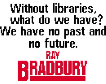 Ray Bradbury Quote Cross-Stitch Pattern