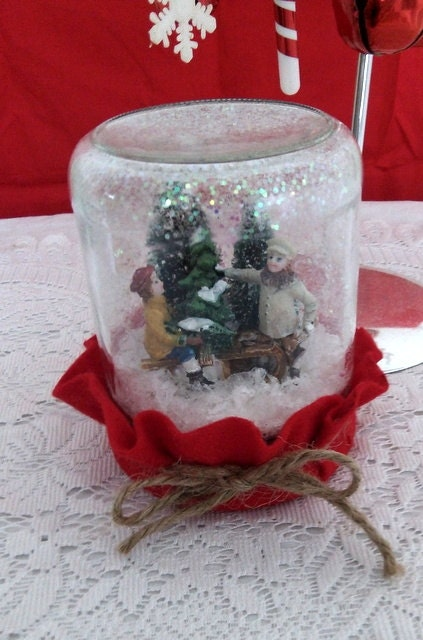 Waterless Snowglobe for Christmas