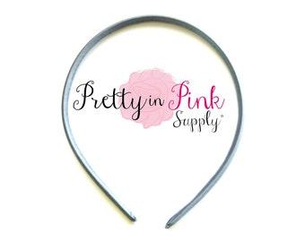 Grey Satin Lined Headband- You choose quantity- Satin Lined Headband- Skinny Headband- Girls Headband- DIY Supply- Plastic Headband