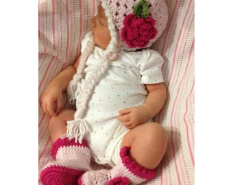 Crochet Hat and Boots Set