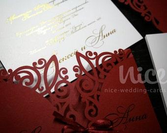 digital .SVG file - BORDO invitation cover - laser cut design for cutting machine