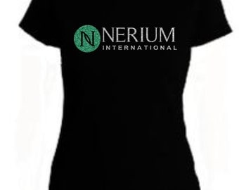 Glitter Nerium Shirt Slim Fit Tee