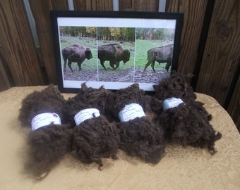 Buffalo/Bison Fiber for crafts and spinning.  NOT CARDED