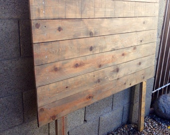 Weathered Oak Rustic Queen Headboard