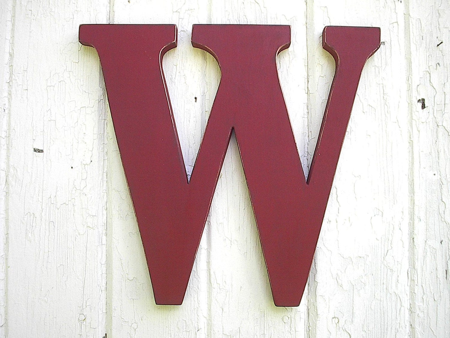 wooden letter w wall hanging monogram 12 kids distressed