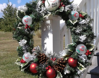 Personalized Christmas wreaths make great Christmas gifts