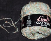 Special for Rikki, 2 skeins Emu Coolspun yarn,cotton blend,Confetti,50gm ball,pastel color mix,bumpy yarn,Made in England
