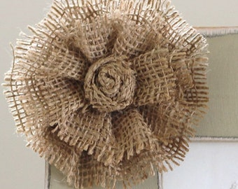 ADD ON Large Burlap Flower