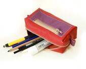 Handmade Leather Pencil Case, Pen Bag