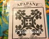 "Hawaiian quilt pattern ""Guava"" 20 inch x 20 inch"