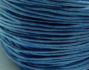 10M MARINE Blue Waxed Cotton Cord 0.7mm, 1.0mm or 1.5mm, kumihimo cord /Macrame cord / bracelet cord, Necklace Cord, cotton cord