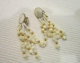 Vintage Mother of Pearl Wild dangle Earrings