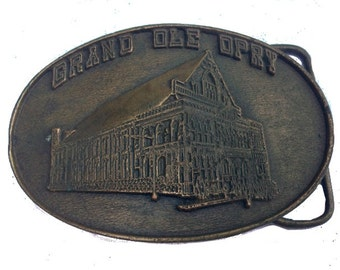Vintage Grand Ole Opry  Belt Buckle - Gift Idea - SALE  - Gift for him or her - Music Lover