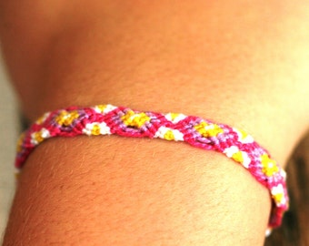 Friendship Bracelet - Woven - Colorful - Chevron - Striped - Great Gift - Multiple Colors Available - Personalized