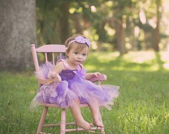 Lavender and Dark Purple Tutu Dress.