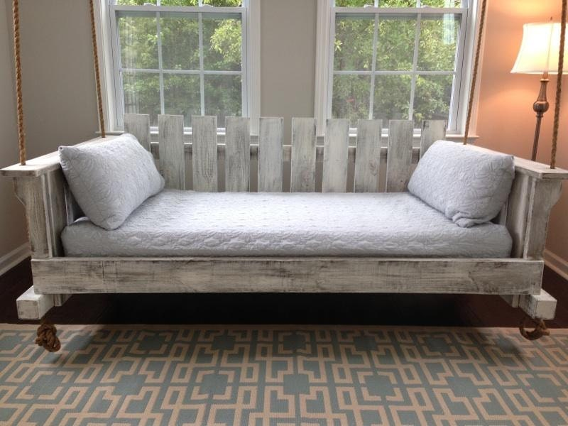 Porch Swing: The Rivertowne Swing Bed w/ by LowcountrySwingBeds