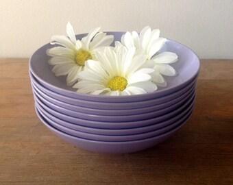 Vintage Retro Kitsch Royalon Melmac Bowls Set of 8 Lavender