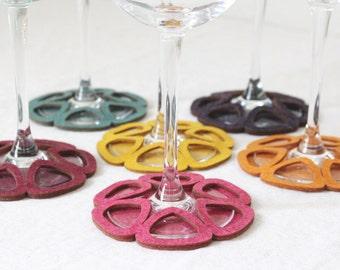 Stemware Coasters set of 6 Limon Zesty