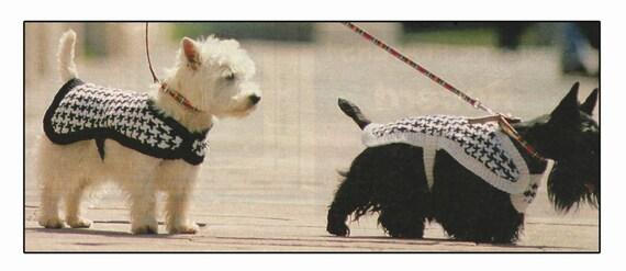 Knitting Pattern For Westie Dog : Dog Coat Knitting Pattern for Westie Dog - PDF from ...