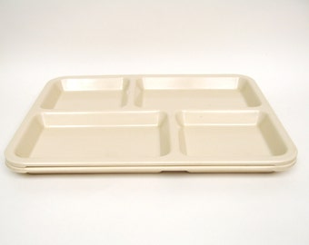 Vintage Cafeteria Mess Hall Lunch Trays - Set of 2