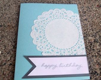 Simple Lace Greeting Card - Set of 10